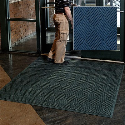 Andersen Co. - No. 221 Waterhog Fashion Diamond Entrance Mat - Scraper/Wiper - 6' x 6' - Smooth Back - Navy