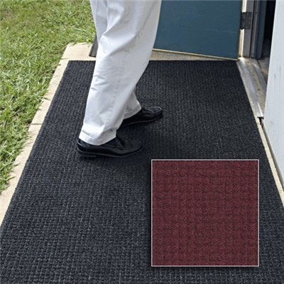 Andersen Co. - No. 385 Brush Hog Plus Outdoor Entrance Mat - Scraper - 3' x 5' - Cleated Back - Burgundy