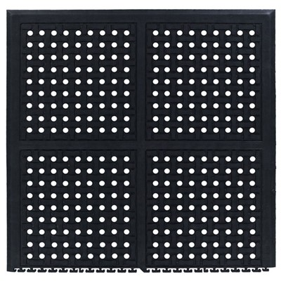 Andersen Co. 4403000001100 - No. 4403 Comfort Flow Linkable Anti-Fatigue Mat - End - 37.125' x 39' - Black