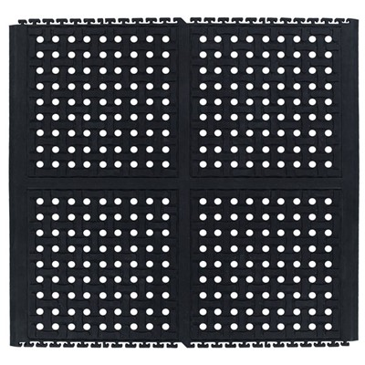 Andersen Co. 4403000002100 - No. 4403 Comfort Flow Linkable Anti-Fatigue Mat - Middle - 36' x 39' - Black