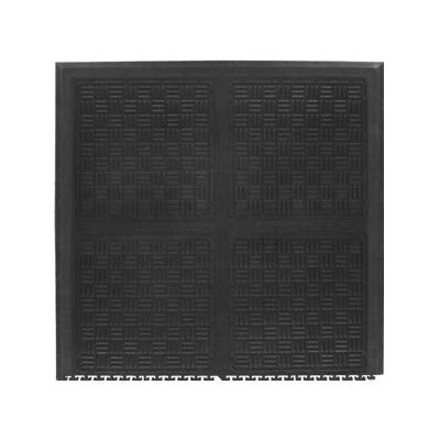 Andersen Co. 3370000002000 - No. 3370 Cushion Station Linkable Anti-Fatigue Mat - End - 37.125' x 39' - Black