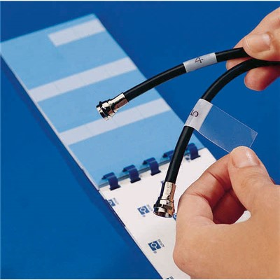 "Brady PWC-PK-3 - Write-On Self-Laminating Wire & Cable Markers - (BLANK) - 1"" W x 3"" H - White - 60/Book"