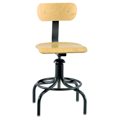 "Bevco 1411 - Plywood 1000 Series Swivel II Chair w/Painted Footring - 20""-28"""
