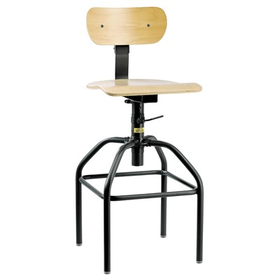 "Bevco 1600 - Plywood 1000 Series Stationary Chair - Adj. Back & Footrest - 26""-34"""