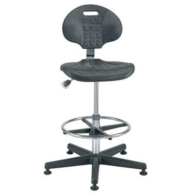 "Bevco 7500C1 - Everlast-CR 7000CR Series Ergonomic Clean Room Chair - Polyurethane - 21""-31"" - Mushroom Glides"