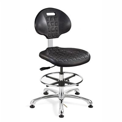 "Bevco 7550E-BK - Everlast-E 7000 Silver Series Ergonomic ESD-Safe Chair - Polyurethane - 21""-31"" - ESD Mushroom Glides - Black"