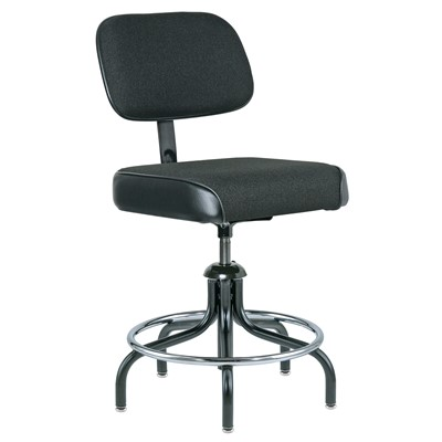 "Bevco 2200/5-BK - Evanston 2000 Series Upholstered Chair - Adj. Back & Footring - 19""-24"" - Black"