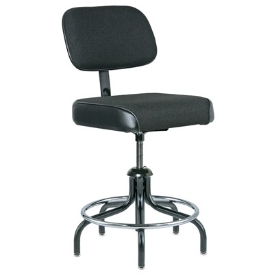 "Bevco 2300/5-BK - Evanston 2000 Series Upholstered Chair - Adj. Back & Footring - 19""-26"" - Black"