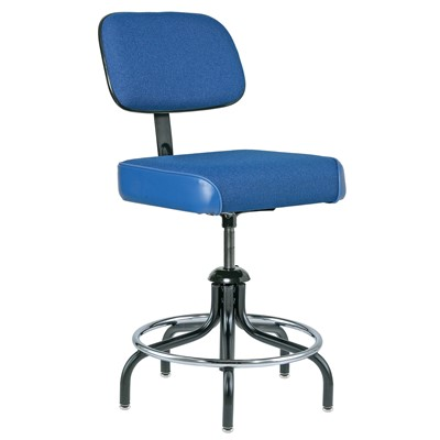 "Bevco 2300/5-BL - Evanston 2000 Series Upholstered Chair - Adj. Back & Footring - 19""-26"" - Blue"