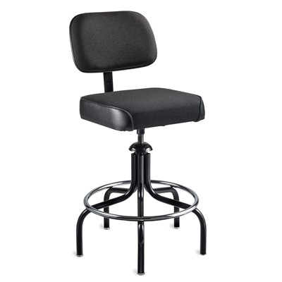 "Bevco 2600/5-BK - Evanston 2000 Series Upholstered Chair - Adj. Back & Footring - 24""-29"" - Black"