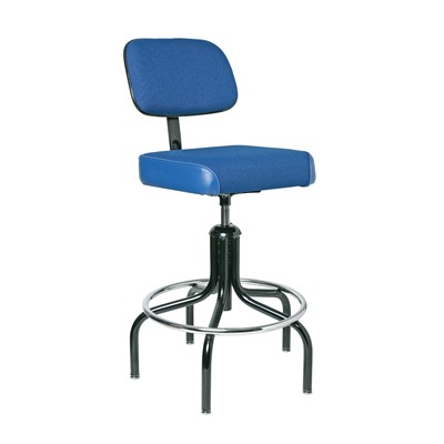 "Bevco 2600/5-BL - Evanston 2000 Series Upholstered Chair - Adj. Back & Footring - 24""-29"" - Blue"