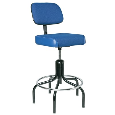 "Bevco 2700/5-BL - Evanston 2000 Series Upholstered Chair - Adj. Back & Footring - 24""-31"" - Blue"