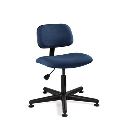 "Bevco 4000-NY - Westmound 4000 Series Ergonomic Pneumatic Chair - Fabric - 16.5""-21.5"" - Mushroom Glides - Navy"