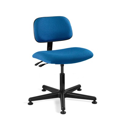 "Bevco 4001-RB - Westmound 4000 Series Ergonomic Pneumatic Chair w/Articulating Tilt Seat & Back - Fabric - 16.5""-21.5"" - Mushroom Glides - Royal Blue"