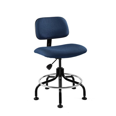 "Bevco 4200-NY - Westmound 4000 Series Ergonomic Pneumatic Chair - Fabric - 19""-24"" - Navy"
