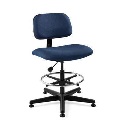 "Bevco 4500-NY - Westmound 4000 Series Ergonomic Pneumatic Chair - Fabric - 22.5""-32.5"" - Mushroom Glides - Navy"