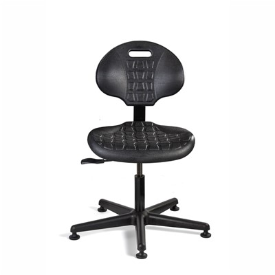 "Bevco 7000-BK - Everlast 7000 Series Ergonomic Chair - Polyurethane - 15""-20"" - Mushroom Glides - Black"