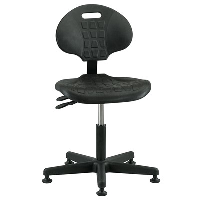 "Bevco 7001-BK - Everlast 7000 Series Ergonomic Chair w/Articulating Tilt Seat & Back - Polyurethane - 15""-20"" - Mushroom Glides - Black"