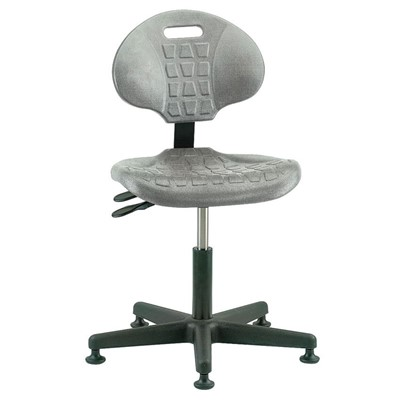 "Bevco 7001-GY - Everlast 7000 Series Ergonomic Chair w/Articulating Tilt Seat & Back - Polyurethane - 15""-20"" - Mushroom Glides - Gray"