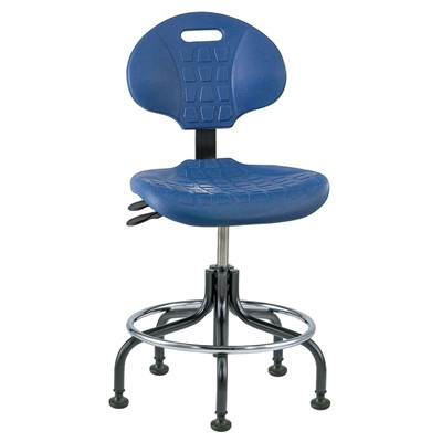 "Bevco 7201-BL - Everlast 7000 Series Ergonomic Chair w/Articulating Tilt Seat & Back - Polyurethane - 18""-23"" - Mushroom Glides - Blue"