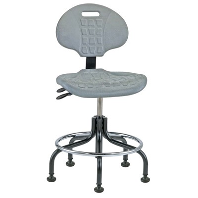 "Bevco 7201-GY - Everlast 7000 Series Ergonomic Chair w/Articulating Tilt Seat & Back - Polyurethane - 18""-23"" - Mushroom Glides - Gray"