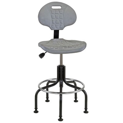 "Bevco 7600-GY - Everlast 7000 Series Ergonomic Chair - Polyurethane - 23""-28"" - Mushroom Glides - Gray"