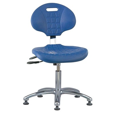 "Bevco 7051-BL - Everlast 7000 Silver Series Ergonomic Chair w/Articulating Tilt Seat & Back - Polyurethane - 14.5""-19.5"" - Mushroom Glides - Blue"