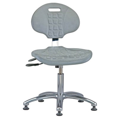 "Bevco 7051-GY - Everlast 7000 Silver Series Ergonomic Chair w/Articulating Tilt Seat & Back - Polyurethane - 14.5""-19.5"" - Mushroom Glides - Gray"