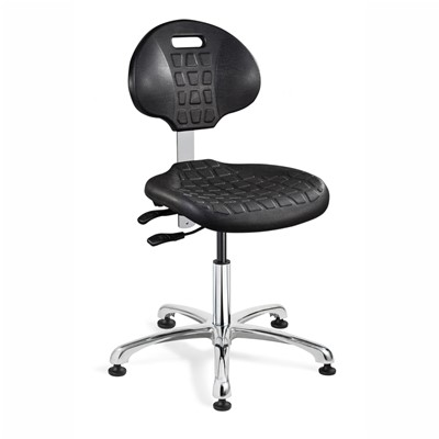 "Bevco 7051 - Everlast 7000 Silver Series Ergonomic Chair w/Articulating Tilt Seat & Back - Polyurethane - 14.5""-19.5"" - Mushroom Glides"