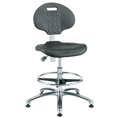 "Bevco 7350 - Everlast 7000 Silver Series Ergonomic Chair - Polyurethane - 17.5""-25"" - Mushroom Glides"