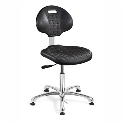 "Bevco 7050E-BK - Everlast-E 7000 Silver Series Ergonomic ESD-Safe Chair - Polyurethane - 14.5""-19.5"" - ESD Mushroom Glides - Black"