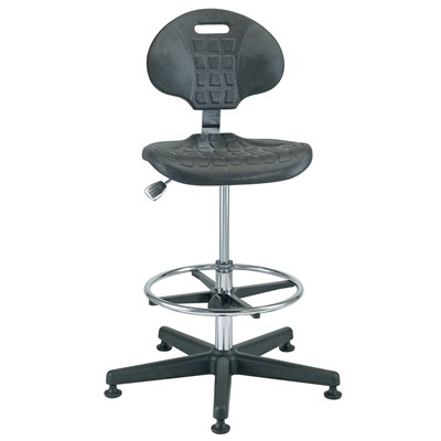 "Bevco 7300C1 - Everlast-CR 7000CR Series Ergonomic Clean Room Chair - Polyurethane - 19""-26.5"" - Mushroom Glides"
