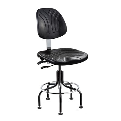 "Bevco 7201D-BK - Dura 7000D Series Ergonomic Chair w/Articulating Tilt Seat & Back - Polyurethane - 18""-23"" - Black"