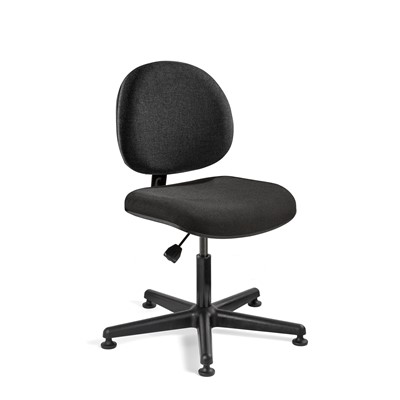 "Bevco V4007MG - LEXINGTON Value-Line V4 Series Ergonomic Pneumatic Chair - Upholstered - 16""-21"" - Mushroom Glides"