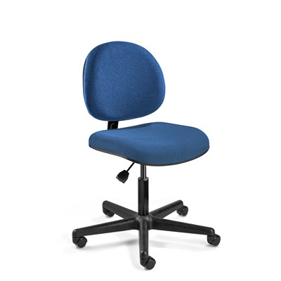 "Bevco V4007CC-BL - LEXINGTON Value-Line V4 Series Ergonomic Pneumatic Chair - Upholstery - 17""-22"" - Carpet Casters - Blue"