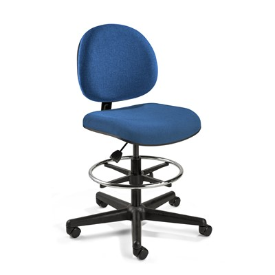 "Bevco V4307HC-BL - LEXINGTON Value-Line V4 Series Ergonomic Pneumatic Chair - Upholstery - 21""-28.5"" - Hard Wood Floor Casters - Blue"