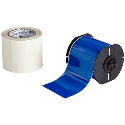 "Brady B30C-4000-483BL-KT - B-483 B30 Series ToughStripe Printable Floor Marking Tape Labels - Polyester w/Overlaminate - Blue - 3.25"" x 100"