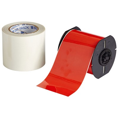 "Brady B30C-4000-483RD-KT - B-483 B30 Series ToughStripe Printable Floor Marking Tape Labels - Polyester w/Overlaminate - Red - 3.25"" x 100"
