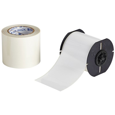 "Brady B30C-4000-483WT-KT - B-483 B30 Series ToughStripe Printable Floor Marking Tape Labels - Polyester w/Overlaminate - White - 3.25"" x 100'"