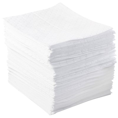 "Brady BPO100 - Basic Oil Heavy Weight Absorbent Pad - Perforated - 15"" x 17"" - 100/Bale"