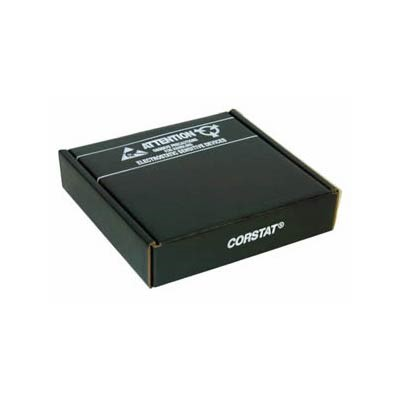 "Conductive Containers (CCI) 3320-8 - CorRec-Pak® Shipping Box w/Foam - ESD-Safe - 12.5"" x 10.5"" x 2.5"" - 27/Set"