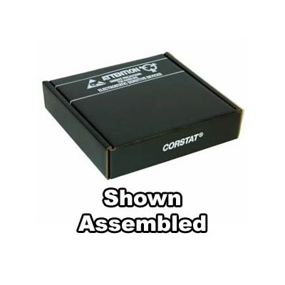 "Conductive Containers (CCI) 3320-8C - CorRec-Pak® Shipping Box Only (Shipped Flat) - ESD-Safe - 12.5"" x 10.5"" x 2.5"" - 50/Set"