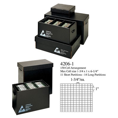 "Conductive Containers (CCI) 4206-1 - Super Adjustable In-Plant Handler Tote - ESD-Safe - 21.5"" x 18.5"" x 6.25"" - 5/Set"