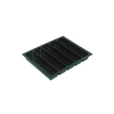 "Conductive Containers (CCI) 1230-5 - CP Conductive Kitting Tray - 9.25"" x 7.375"" x 1.125"" - 25/Set"