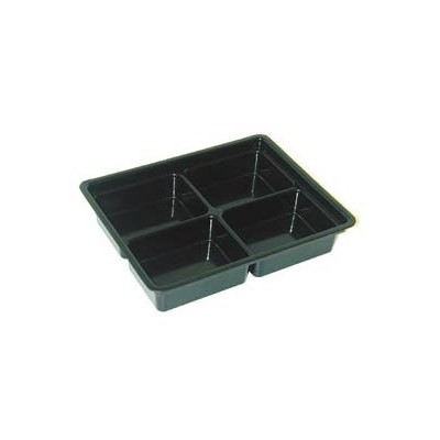 "Conductive Containers (CCI) 13025 - CP Conductive Kitting Tray - 9.25"" x 7.25"" x 1.75"" - 25/Set"