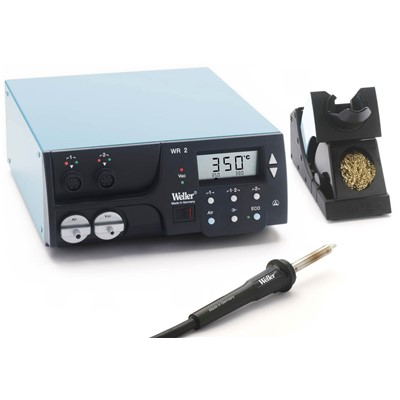 Weller WR2000 - Self-Contained Digital 2 Channel Rework Station w/HAP1 Pencil - ESD-Safe - 300W