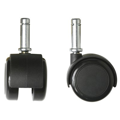 Bevco CADS5 - Non-Conductive Dual-Wheel Hard Floor Casters - 5 Tubular Steel Base Models - 5/Set