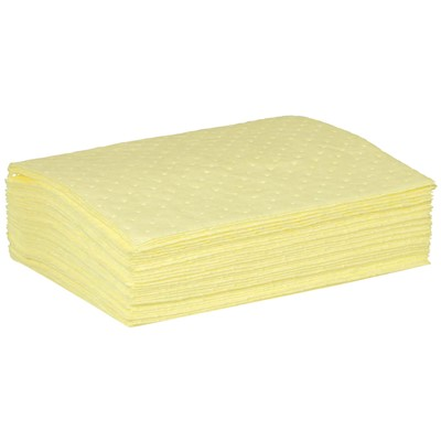 "Brady CH1212-50 - High Visibility Safety Medium Weight Absorbent Pad w/No Print - Perforated - 12"" x 12"" - 50/Case"