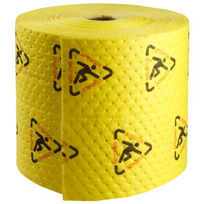 "Brady CH15P - High Visibility Safety Heavy Weight Absorbent Roll - Perforated - 15"" x 150'"