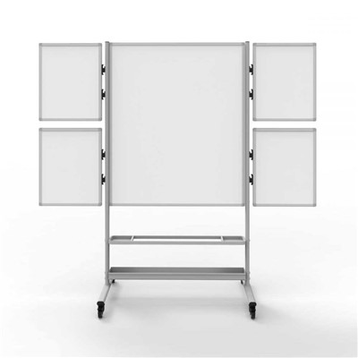 "Luxor/H Wilson COLLAB-STATION - Mobile Whiteboard Collaboration Station - 82.25""W x 23.7""D x 76.4""H"